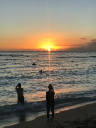 Sunset at Waikiki.