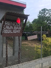 I learned that you can tell if a kava bar is open for business if they have a light outside by the road.