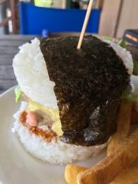 Sushi burger. NOM NOM NOM!