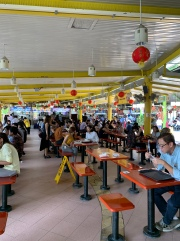 A view inside one hawker center.