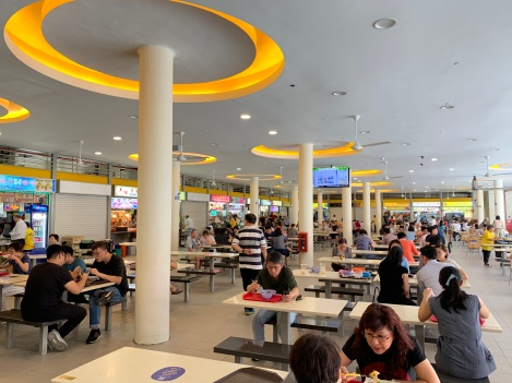 View inside another hawker center.