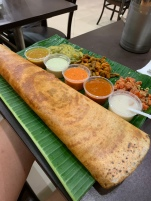 The biggest Dosa (from Little India) that I've ever seen.