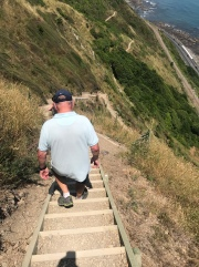 This give some idea of the magnitude of stairs we had to climb and descend. Not easy on your knees!