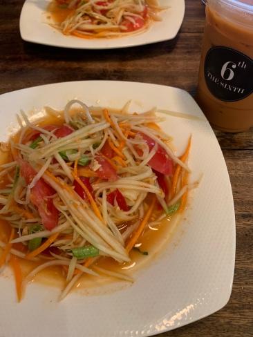 Papaya salad at The Sixth