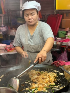 """Making a SUPER DELISH turnip cake with eggs. This is another version of the """"carrot cake"""" I had in Singapore, and it's definitely one of my favorite dishes in this part of the world."""